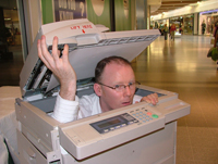 Stuck In The Photocopier Gag